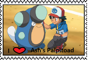 Ash's Palpitoad fan stamp