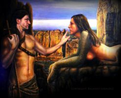 Oedipus and the Sphinx by RICARDO-GIRALDEZ