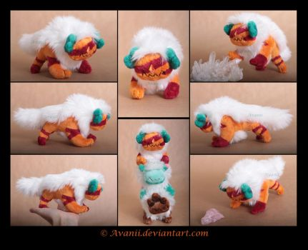 Plushie Commission: Corrupted Jasper by Avanii