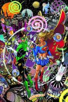 Supergirl and Green Lantern by battle810