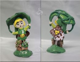 Handcrafted Wind Waker Link fan art by Rabeccasaurus