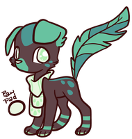 [Closed] Choco Mint Drops Feathertail by CoffeeCupPup