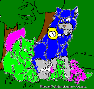 Wolf Family By Firewolf Anime (Did not steal) by wolfguardian24