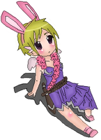 Pixel bunny - colored by tin-san