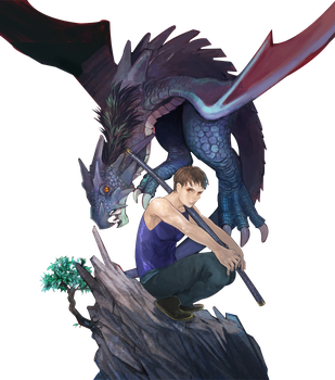 Render - Boy and Dragon by gintoshiro02