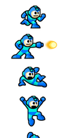 "MegaMan ""Sprites""-In Action by WaneBlade"