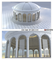 WIP -Greek Temple Garden 1 by foxgguy2001