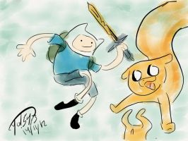 Finn and Jake by Lonely-something