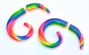Rainbow Polymer Fake Gauges 001 by Dabstar