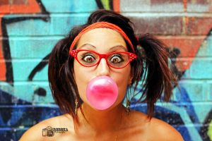 Bubblegum Nerd by RebekaPhotography