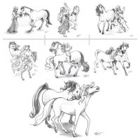 Horse Transformation .: Commission :. by Janexas