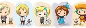 tdw: more chibi boys and girls by firstfarewell