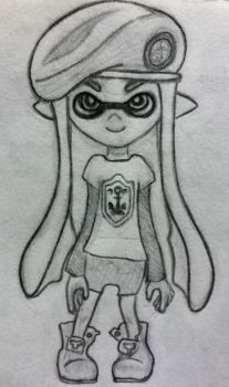 First Try At Drawing an Inkling Girl! by SingWing7