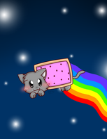Nyan Cat Ver. 2 (video updated) by JizeruXhikuro