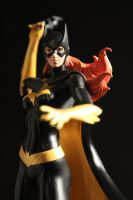 Batgirl broken statue repair and scratchbuilt base by Joker-laugh