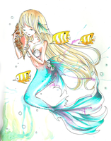 Commission: Mermaid by Ama-Natto