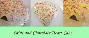Mint Chocolate Heart Cake by Lotte-Holmes