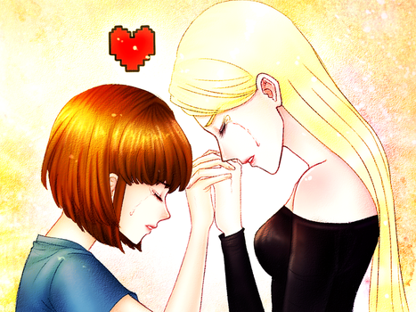 [Request] Frisk (Undertale) and Yurima by Cheon-Sandoll