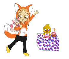 Hyunaloid (with Toy Foxy and Chica) by Bokeol
