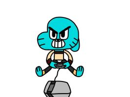 Gumball playing NES by MigsGarcia5127