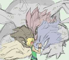 Lloyd and the ultra dragon by psuliem