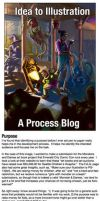 Idea to Illustration - Process Blog by RobinRone