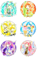 VOCALOID Button Set [Delicous] by DragonOlong