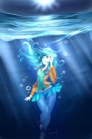Saltwater Room - Astrid /Owl City,Abstract,Surreal by MelodyGold