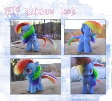 My Little Pony Filly Rainbow Dash Custom by kaizerin