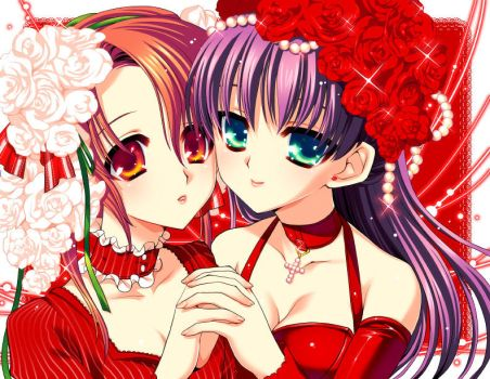 roses by gimei