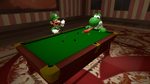 [SFM] Yoshi and Luigi billiard game by ZeFrenchM