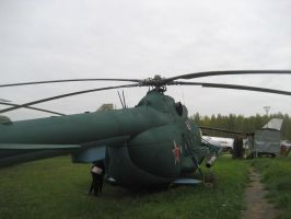 Mi-8MTV military transport helicopter by nikitakartinginboxru