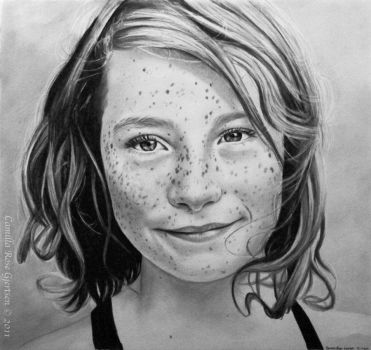 Girl with freckles by EruwenRose