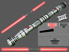 Darth Maul's Lightsaber by Marty--McFly