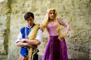 Flynn Rider and Tangled by indyjones78