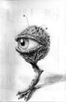 Creepy mutated eye by ThroughSpaceAndTime