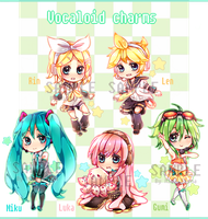 [SALE] Vocaloid charms! by mamechii