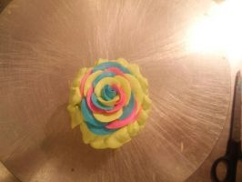 multi colored rose by CrunchyNettles