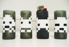 Space Invaders Perler Bead Lighter Cases by lightercases