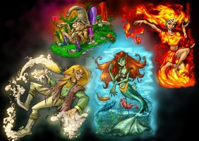 The Four Elements by CARUTOONS