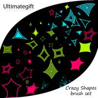 Crazy shapes brush set by ultimategift