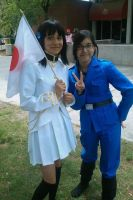 Japan and Italy Cosplay by RawrDoki