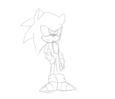 Sonic Sketch by ultrtruehyperdarkson