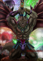 WolfLsi's Winged Werewolf colored by kaze-fox