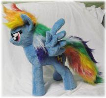 Rainbow Dash plushie, pattern test by Rens-twin
