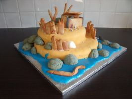 Pirate Island Cake 6 by BevisMusson