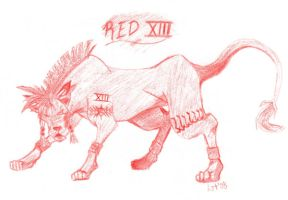 Red XIII by ishtar-tiger