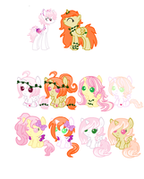 MLP Breedable: Tricyrtis Hirta and Poison Ivy by ChopstickGirl241