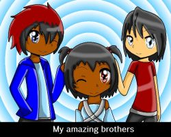 My amazing brothers by MetalCarebearGirl
