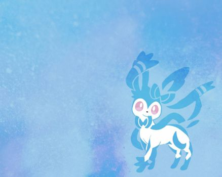 Sylveon Shiny Wallpaper by Sparky-2000